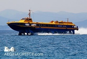 Boat timetables - The Aegean Flying Dolphin that is arriving on Aegina