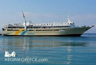 Agios Nektarios Ferry at the port of Aegina island