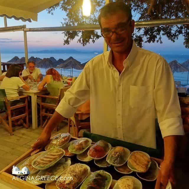 Aerides beach restaurant Vagia Aegina island