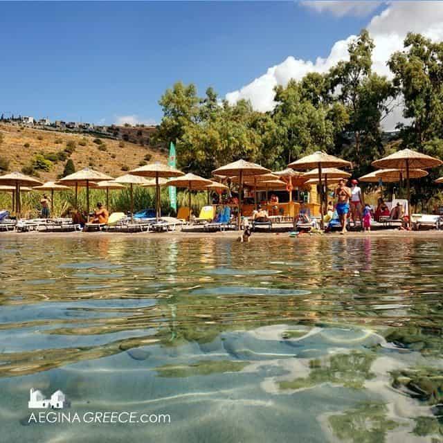 Klima beach on Aegina island - Aigina - Greece