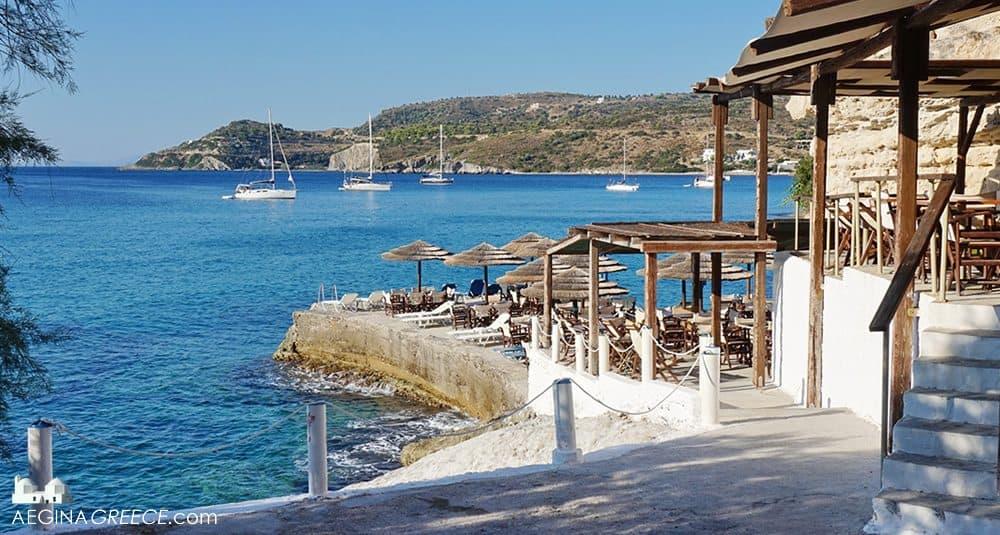 Sotos Beach Bar Aegina Island Greece