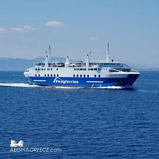 Axaios ferry to Aegina town