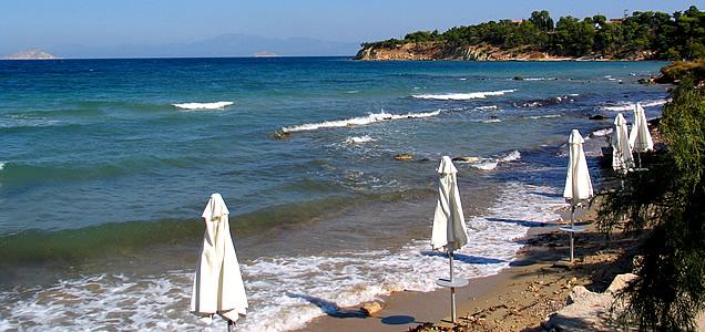 Aegina Kolona beach - AEGINAGREECE.com