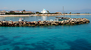The harbour and beach of Skala - Agistri